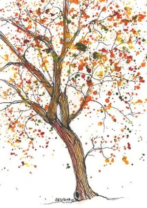 Twisted, Tree, watercolor $27 by roji