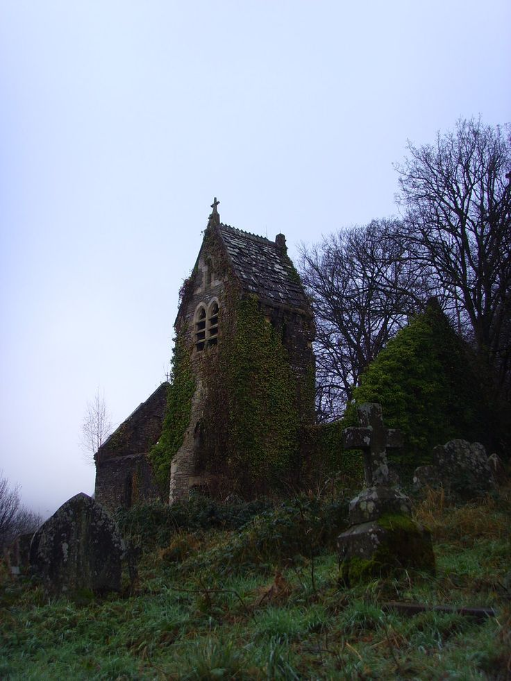 Abandoned church and cemetary. - Not all who wander are lost. by Jakari.deviantart.com