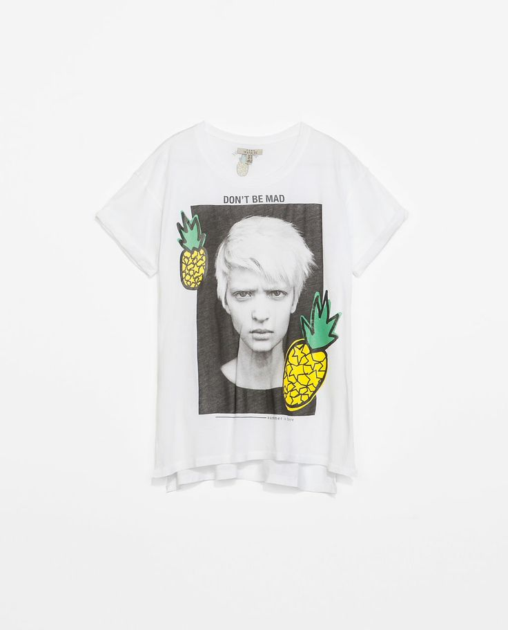 """Fruits and Girl T-shirt at Zara """"Trend Report - Pineapple Express"""" July 10/2014 #pineapple #Fashion"""