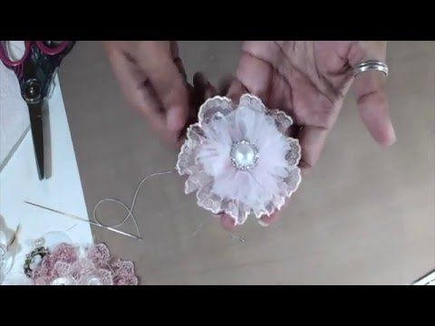 Shabby Chic Cheese Cloth Flower Tutorial - YouTube