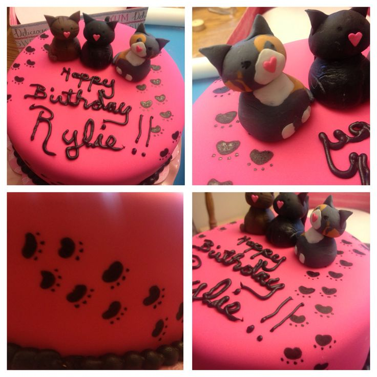 Cat themed birthday cake by How Sweet It Is NY