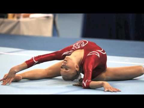 Gymnastics floor routine music Sia Chandelier. This music is really pretty.
