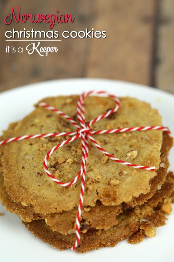 These easy Norwegian Christmas Cookies are a crispy, cinnamon cookie, known as Brune Pinner. They are a delicious Scandinavian treat that my family loves.