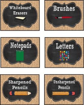 reading glasses online nz Burlap and Chalkboard Classroom Supply Labels