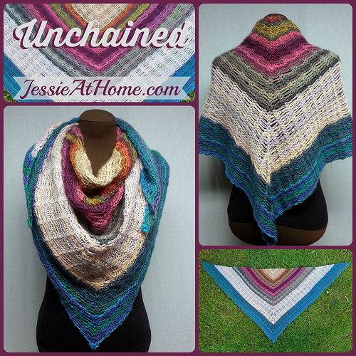 Stunning cowl/shawl free pattern using leftover Red Heart ...