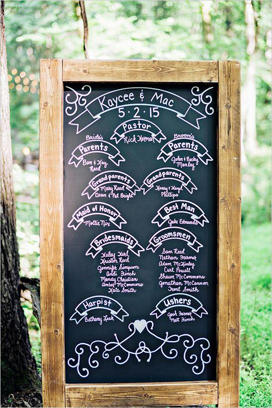 wedding program #chalkboard sign @weddingchicks