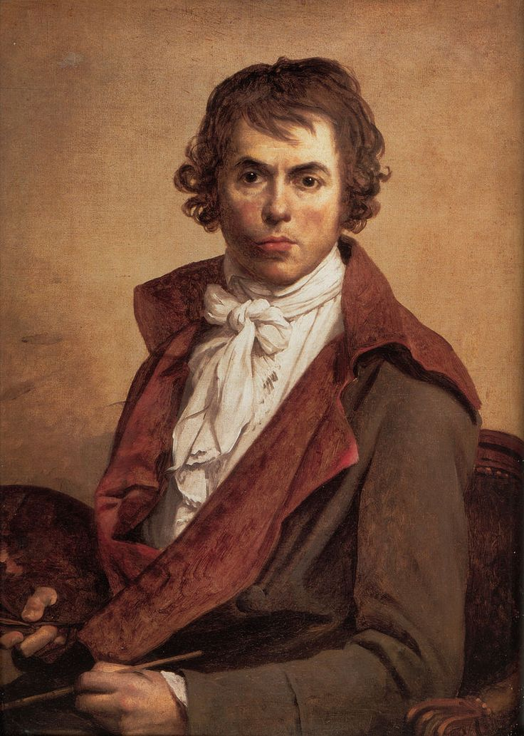 'David Self Portrait' by Jacques-Louis David (1748-1825) Influential French painter in the Neoclassical style, considered to be the preeminent painter of the era. In the 1780s his cerebral brand of history painting marked a change in taste away from Rococo frivolity toward a classical austerity.