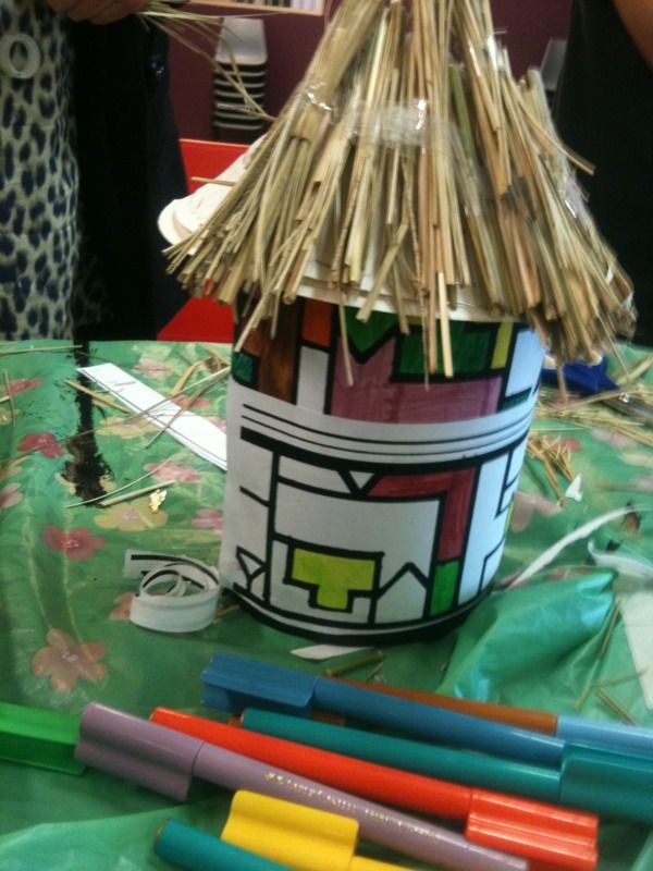Ndebele Hut Vbs Craft Ideas African Art Projects