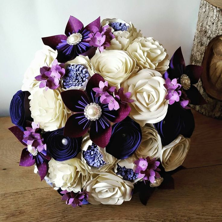 Beautiful Alternative Paper Flower Bouquets Bespoke Custom