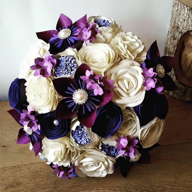Beautiful Alternative Paper Flower Bouquets Bespoke Custom