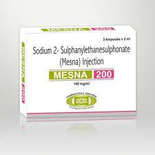 MESNA G.E.S Sol. nebul./instila. endotraqueopulmonar 200 mg/ml. Facilita la aspiración y drenaje de mucosidades y exudados retenidos en el tracto respiratorio, seno maxilar y oído. Inyección.