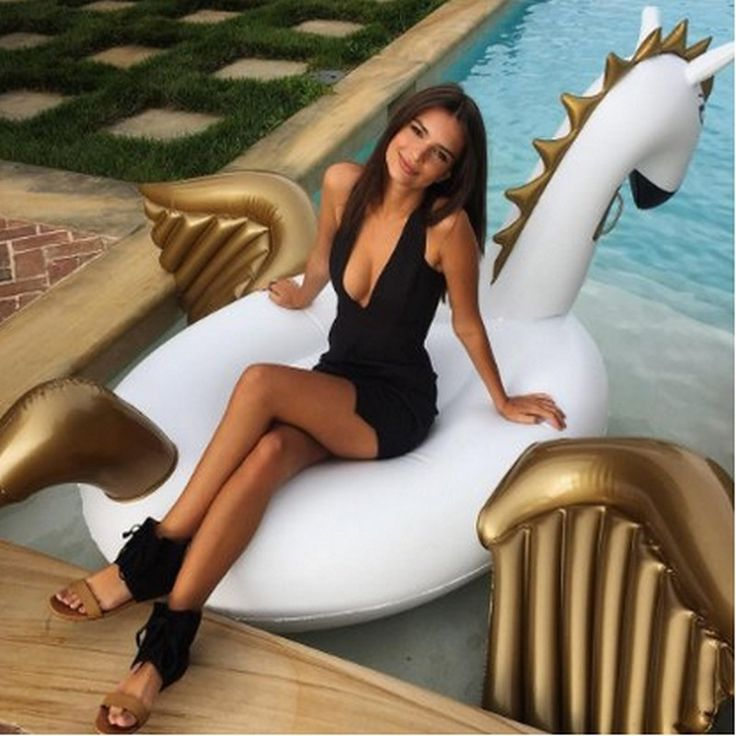 82.88$  Watch now - http://alinko.worldwells.pw/go.php?t=32725715485 - Pool Toys Summer Holiday 2.5m Inflatable Air Pegasus Pool Float Babrit Floating boia inflatable swan flotador piscina Drop ship