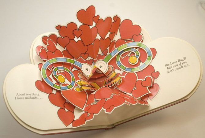 DIY Valentine Idea: Love You Pop-Up Book