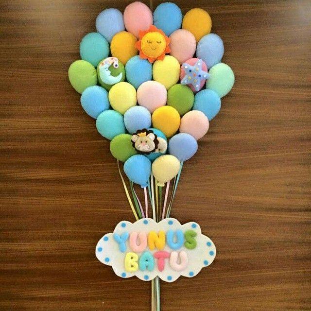 Balon kapı süsünün Kapıda duruşunu merak edenler için... Hoşgeldin Yunus Batu.. ömürlü olsun  #sizdengelenler #keçekapısüsü #aydın #keçe #balon