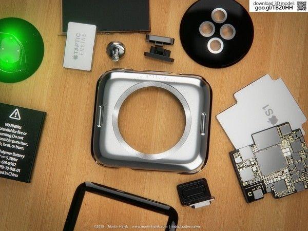 Apple Watch Teardown 3D Rendering Image