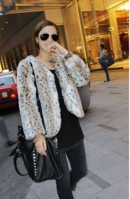 Felljacke Pelzjacke Fake Fur Jacke Schneeleoparden Imitat 32 34 36 VinTaGe BoHo* | eBay