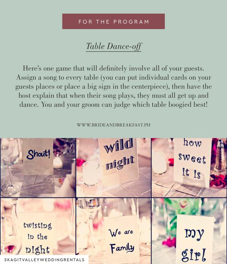 Wedding Reception Games to Keep Your Guests Laughing and Entertained | https://brideandbreakfast.ph/2016/12/18/wedding-reception-games-to-keep-your-guests-laughing-and-entertained/