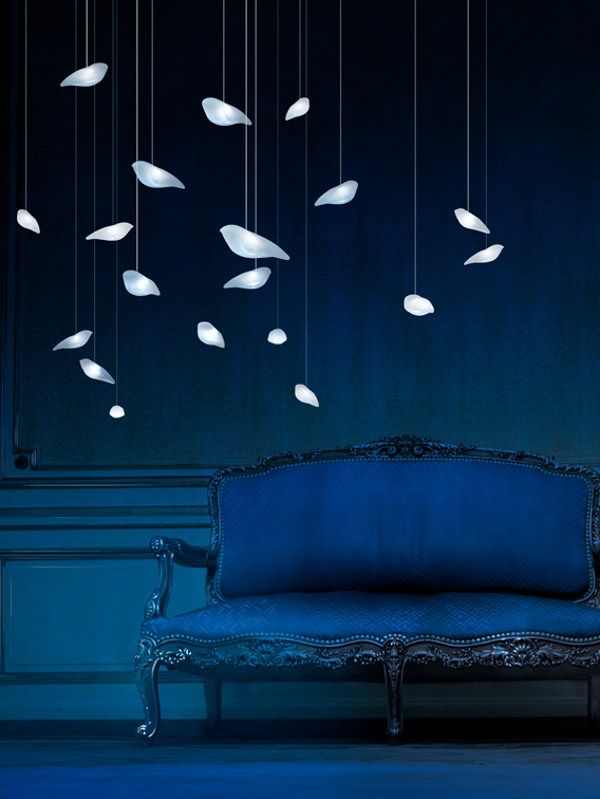 #LED glass pendant #lamp SMOONBIRDIE LIGHT by @Beau Gunderson et Bien #design #blue #colour