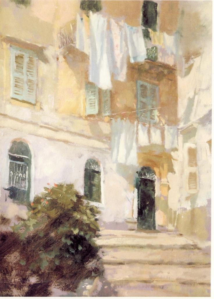 Shaun Kenaelly: Jacqueline Williams: Wash Day, Corfu