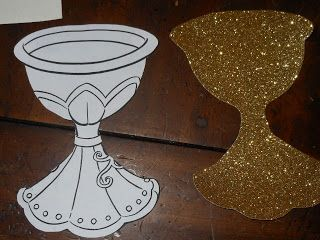 Making patterns for First Communion Banner