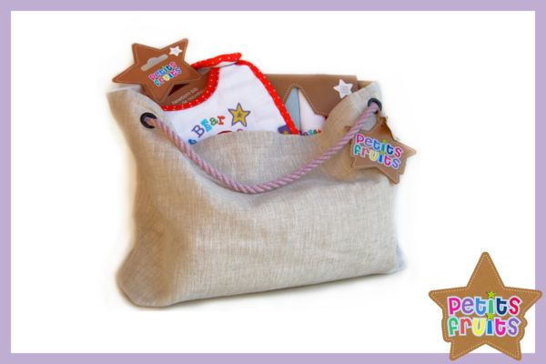 Gift set - Petits Fruits - includes, bib, blanket, swaddle and muslins