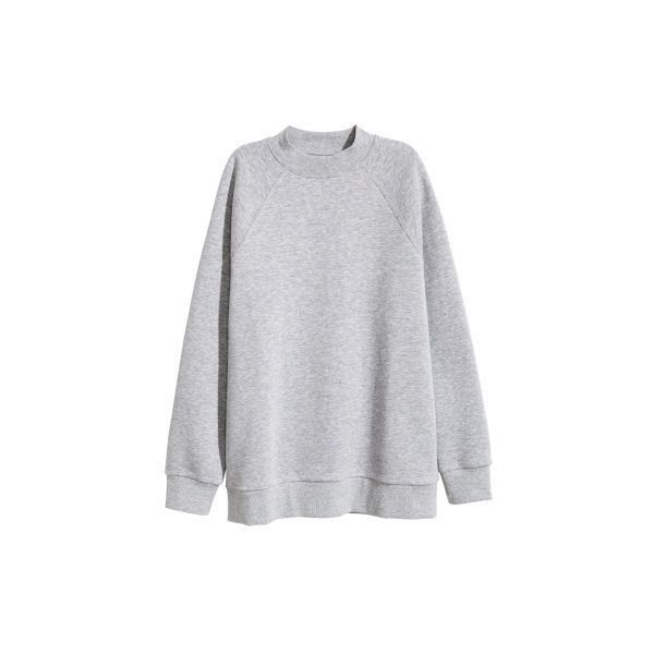 Huvtröjor Sweatshirts ($25) ❤ liked on Polyvore featuring tops, hoodies, sweatshirts, h&m cardigan, cardigan top and h&m tops