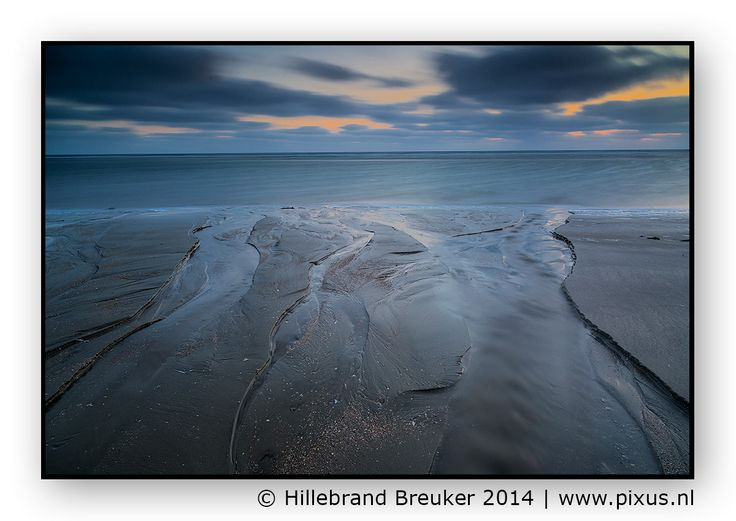 Lakolk Beach at Rømø, Denmark. Last light at the widest beach of Europe.   Grtz. Hillebrand   www.pixus.nl