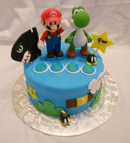 Super Mario Bros 9th Birthday Cake, via Flickr. My grandchildren s favorite  (for the moment)