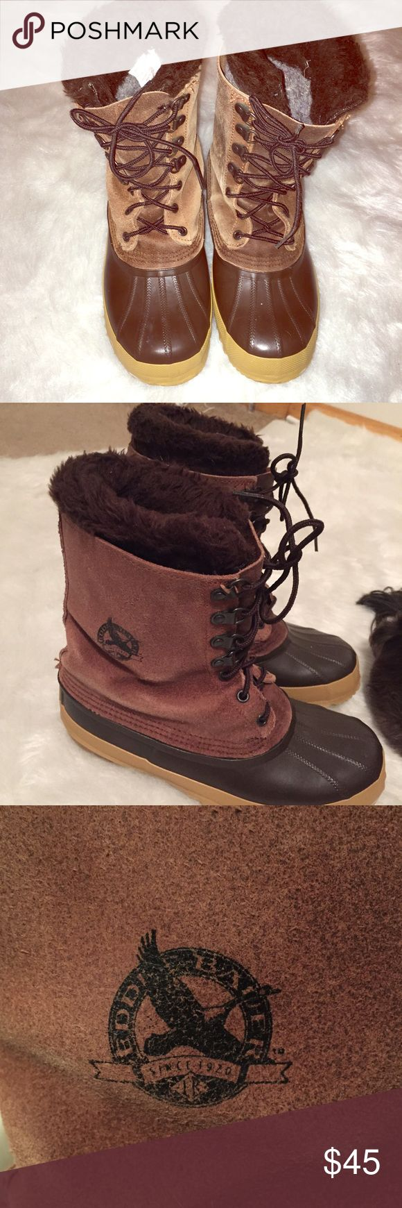🚨Clearance sale🚨Eddie Bauer Women duck boots 8 Women's Eddie Bauer duck boots size 8 used but still have a lot of life left in them Eddie Bauer Shoes Combat & Moto Boots