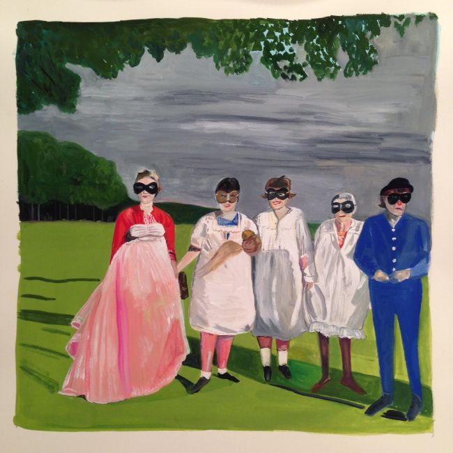 Gallery Maira Kalman S Girls Standing On Lawns In 2021 Maira Kalman Girl Standing Illustration