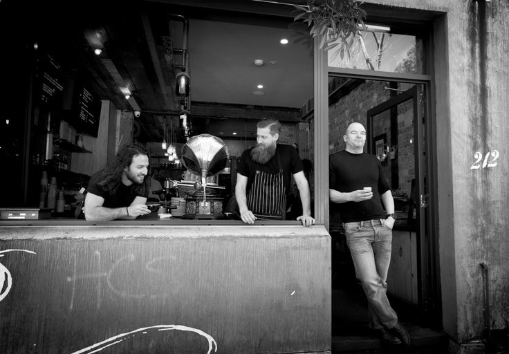 The Sly Cafe team: Alex (Barista), Henry (Chef) & Dean (Owner)