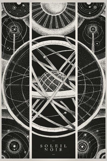 PTHLGKL - MAKS L.: Soleil Noir - Silkscreen Poster / Sacred Geometry <3