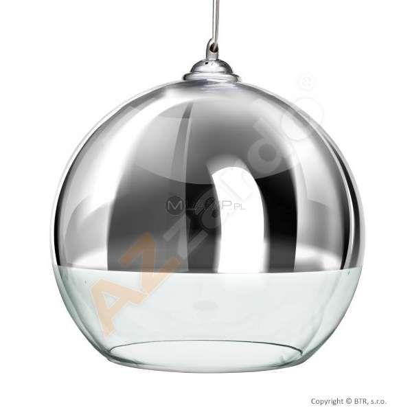 LAMPA wisząca SILVER BALL 35 LP5034-L Azzardo szklana OPRAWA ZWIS kula chrom przezroczysty