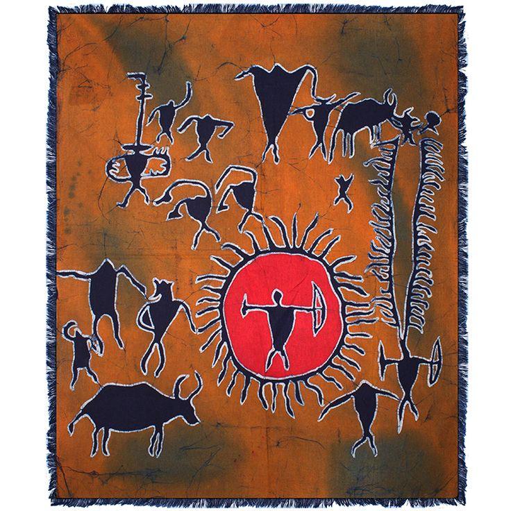 苗族手工蜡染壁挂蜡染单层画民族特色装饰画 沧源文化(1)70x90cm-淘宝网