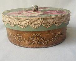 Caixa Vintage redonda