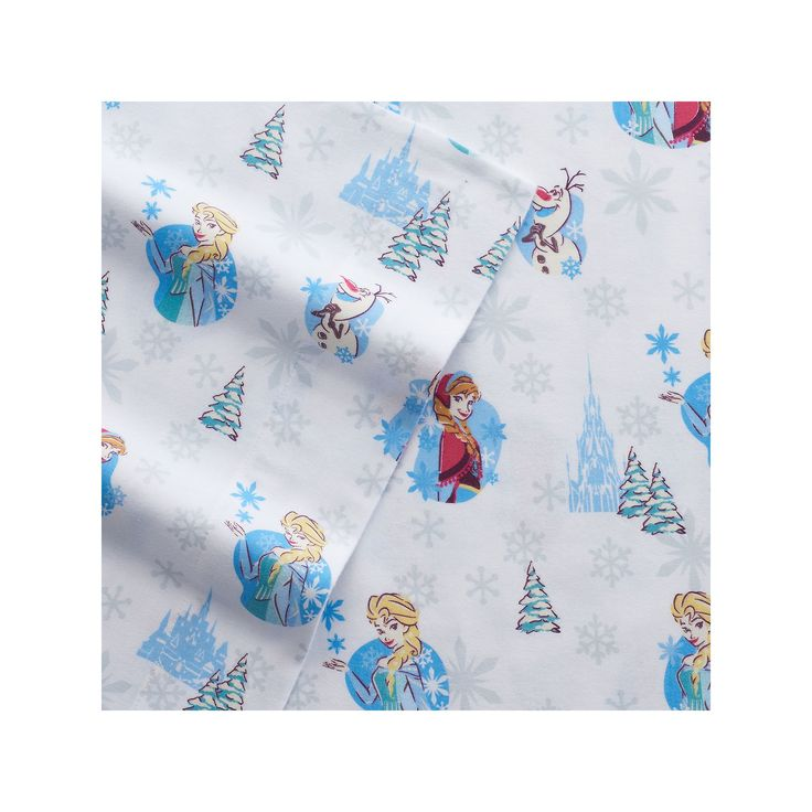 Disney's Frozen Princess Flannel Sheets by Jumping Beans, White Oth Twin