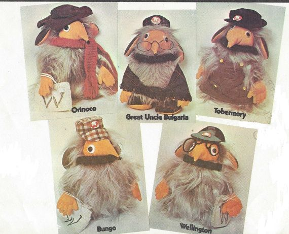 1970s Rare Wombles Body with Clothes for Great by CloesCloset