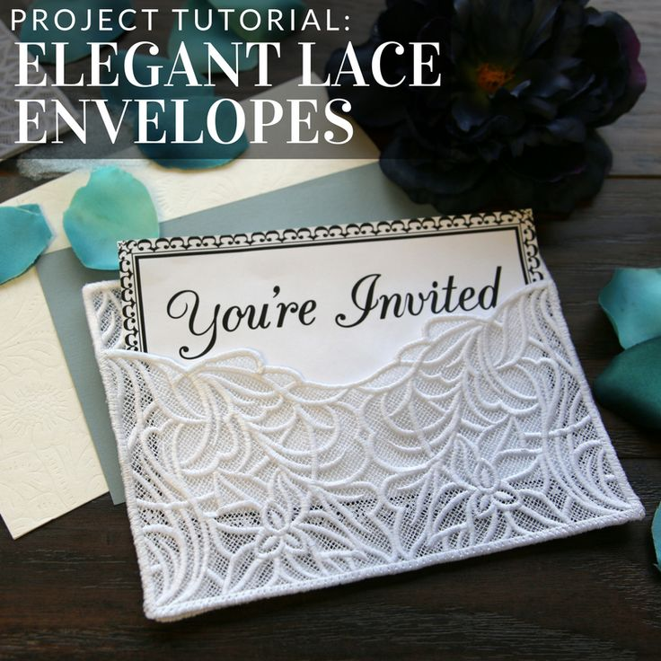 Create your own lace envelope with this project tutorial from Embroidery Library.