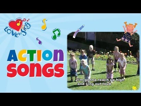 ▶ Reach Up High | Tofa Tafa with Lyrics | Children Love to Sing Kids Action Dance Party Songs - YouTube   -Repinned by Totetude.com