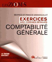 Béatrice Grandguillot et Francis Grandguillot - Comptabilité générale - Exercices avec corrigés détaillés. - Agrandir l'image