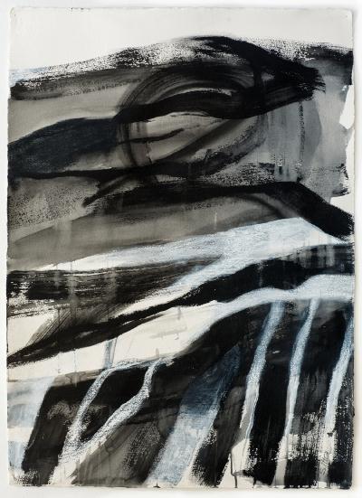 Inger Sitter, Akryl/pastell på papir II, 2013, Norway