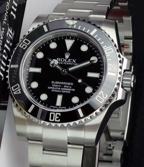 Swiss Watches ROLEX - 2013 Never Worn Stainless Steel SUBMARINER No Date 114060 - SANT BLANC
