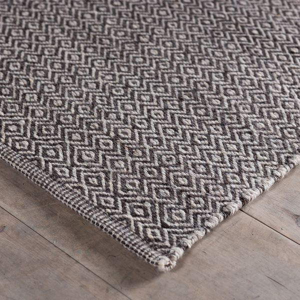 Handwoven Angus Black And White Wool Rug (India)   Overstock™ Shopping    Great Deals On   Rugs