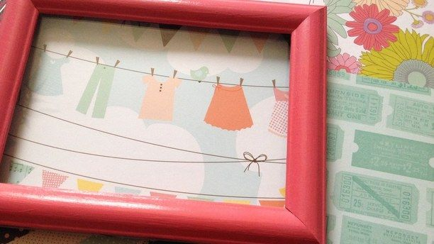 DIY Beautiful Framed art With Scrapbook Paper