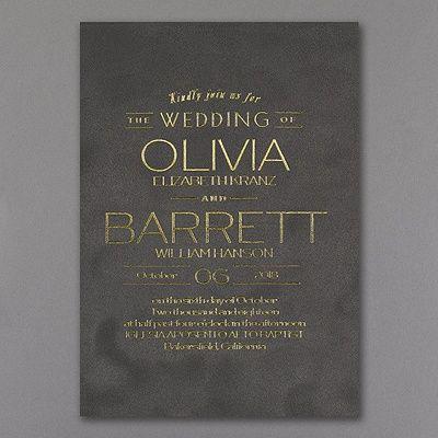 Type it Out - Invitation - Grey Velvet