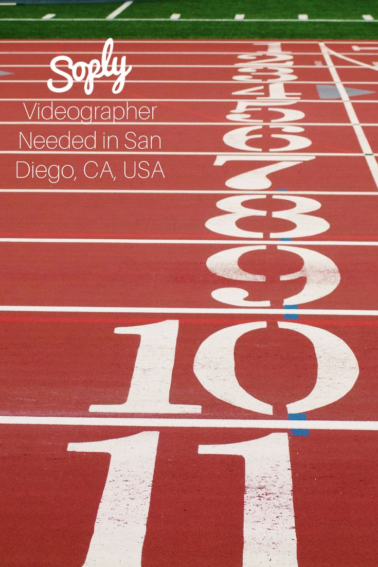 #Videographer needed to #film an #athlete's #video in #San Diego, #California, USA. See the #videography job and apply by clicking the pin!