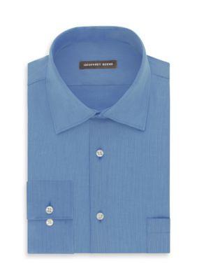 Geoffrey Beene Cameo Blue No-Iron Fitted Dress Shirt