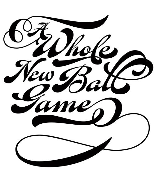 Fan Script: While I'm Not A Baseball Fan, For This Font I