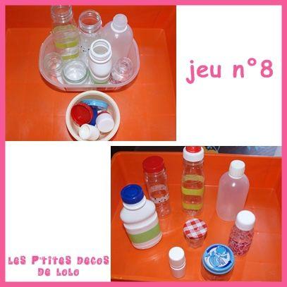 jeu8 associer bouchons bouteilles montessori