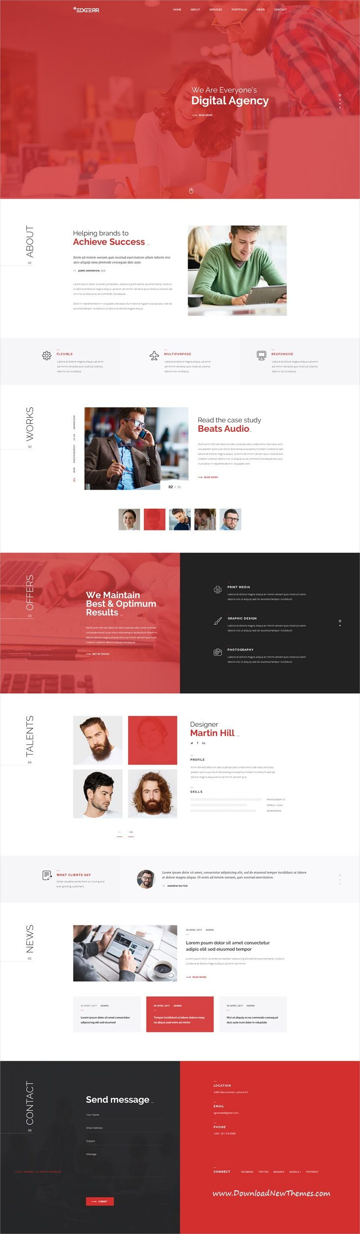 Edegrr is clean and modern design #PSD template for for #consulting, finance and business agencies #website with 12 layered PSD pages download now..